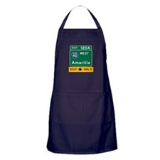 Amarillo, TX Road Sign, USA Apron (dark)