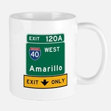 Amarillo, TX Road Sign, USA Mug