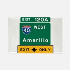 Amarillo, TX Road Sign, USA Rectangle Magnet