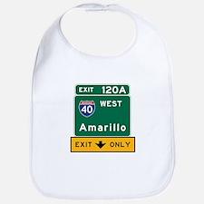 Amarillo, TX Road Sign, USA Bib