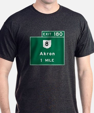 Akron, OH Road Sign, USA T-Shirt