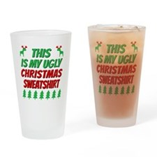 Cute Ugly christmas Drinking Glass