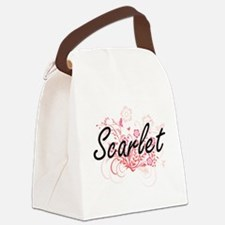 Scarlet Artistic Name Design with Canvas Lunch Bag
