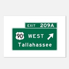 Tallahassee, FL Road Sign Postcards (Package of 8)