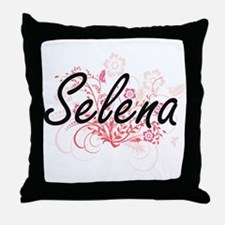 Selena Artistic Name Design with Flow Throw Pillow