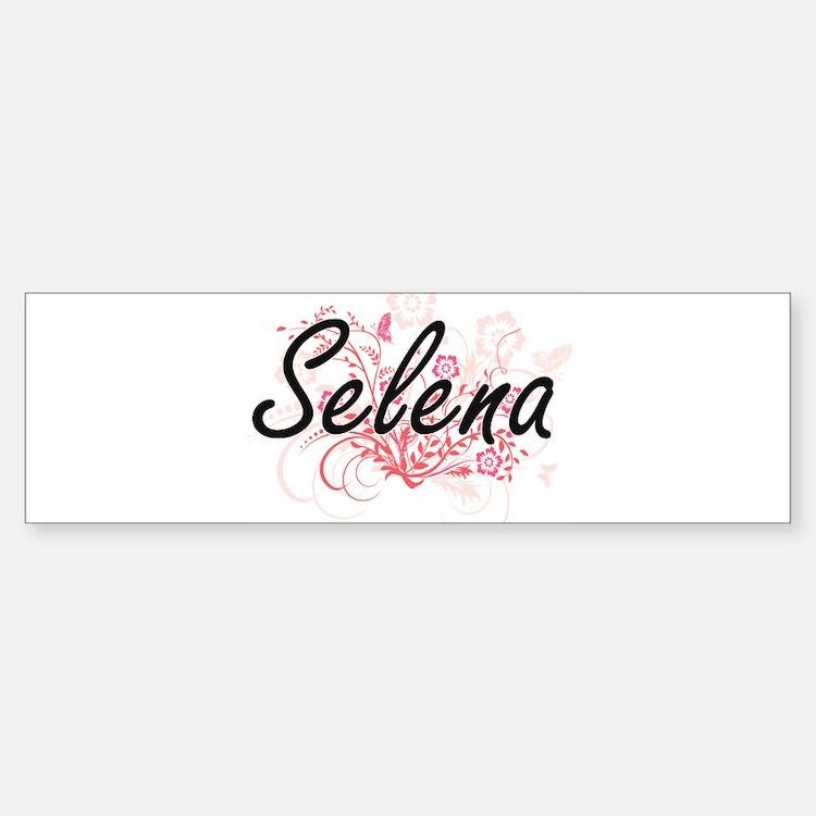 Selena Artistic Name Design with Fl Bumper Bumper Bumper Sticker