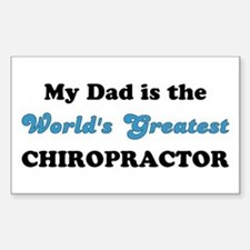 Dad World's Greatest Chiro Rectangle Decal