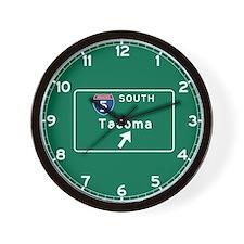 Tacoma, WA Road Sign, USA Wall Clock