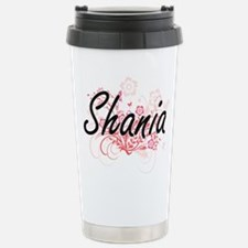 Shania Artistic Name De Stainless Steel Travel Mug