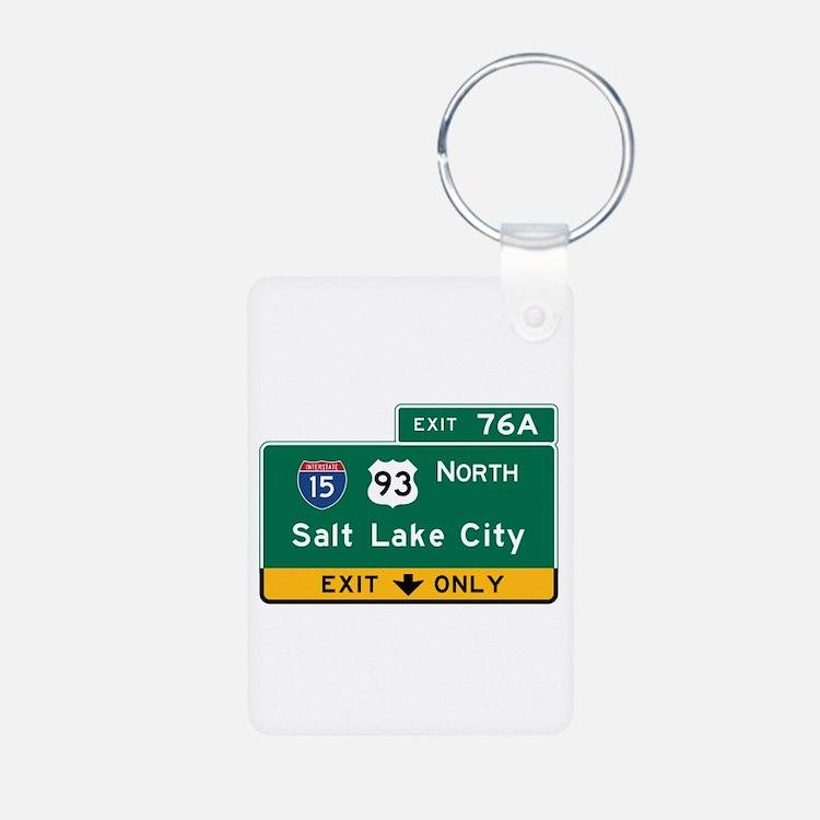 Salt Lake City, UT Road Si Keychains