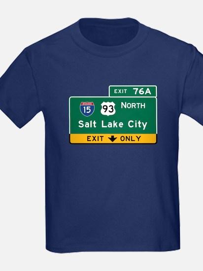 Salt Lake City, UT Road Sign, US T