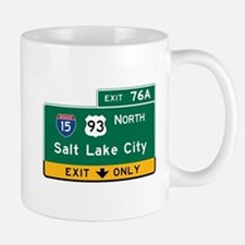 Salt Lake City, UT Road Sign, USA Mug