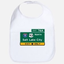 Salt Lake City, UT Road Sign, USA Bib