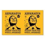 Asparagus Makes Your Pee Awesome! Bush Sticker