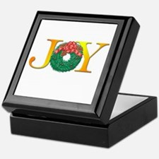Joy Christmas Wreath Keepsake Box