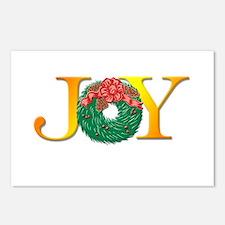 Joy Christmas Wreath Postcards (Package of 8)