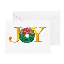 Joy Christmas Wreath Greeting Card
