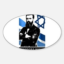 Theodor Herzl Jewish Founder Israel State Decal