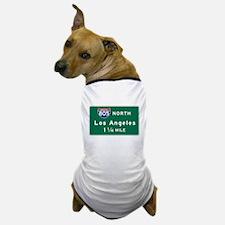 Los Angeles, CA Road Sign, USA Dog T-Shirt
