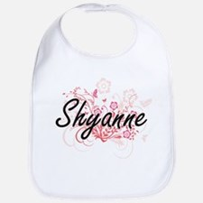 Shyanne Artistic Name Design with Flowers Bib