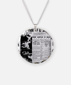 Old newspaper poster Zep Cra Necklace