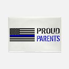Police: Proud Parents Rectangle Magnet