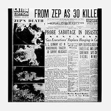 Old newspaper poster Zep Crash News V Tile Coaster