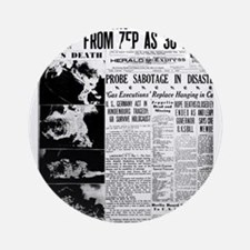 Old newspaper poster Zep Crash News Round Ornament