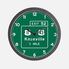Knoxville, TN Road Sign, USA Wall Clock