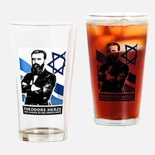 Theodor Herzl Jewish Founder Israel Drinking Glass