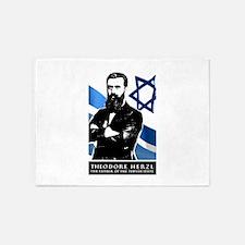 Theodor Herzl Jewish Founder Israel 5'x7'Area Rug