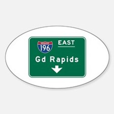 Grand Rapids, MI Road Sign, USA Decal