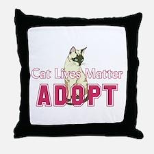 Cat Lives Matter Throw Pillow