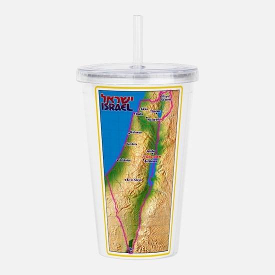 Israel Map Palestine L Acrylic Double-wall Tumbler