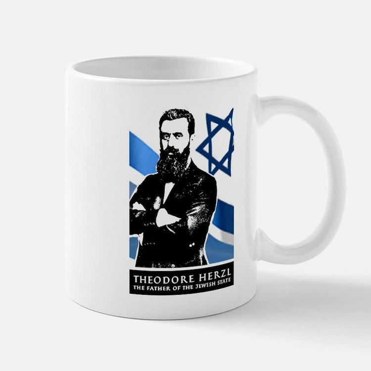 Theodor Herzl Jewish Founder Israel State Zio Mugs