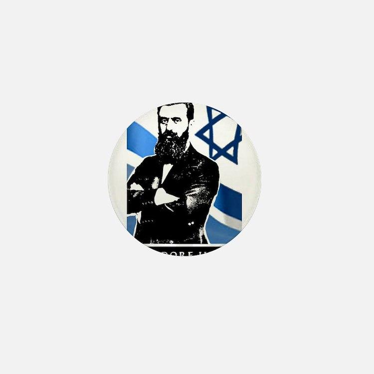 Theodor Herzl Jewish Founder Israel St Mini Button