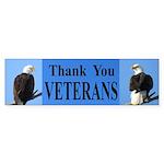 Thanks Veterans Bumper Sticker