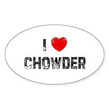 I * Chowder Oval Decal