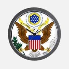 United States Great Seal Emblem Coat of Wall Clock