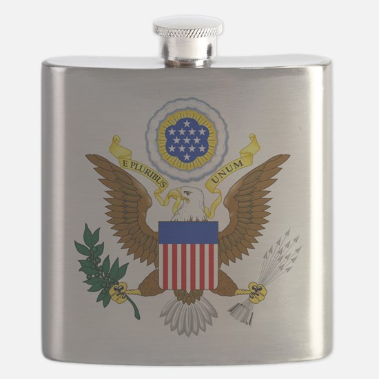 United States Great Seal Emblem Coat of Arms Flask