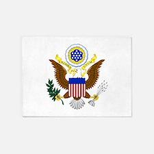 United States Great Seal Emblem Coa 5'x7'Area Rug