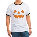 Orange Jack-O-Lantern Ringer T