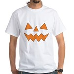 Orange Jack-O-Lantern White T-Shirt