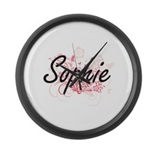 Sophie Artistic Name Design with Large Wall Clock