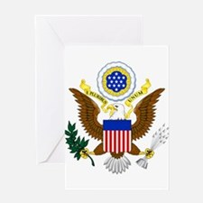 United States Great Seal Emblem Coa Greeting Cards