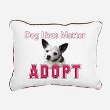 Dog Lives Matter Rectangular Canvas Pillow