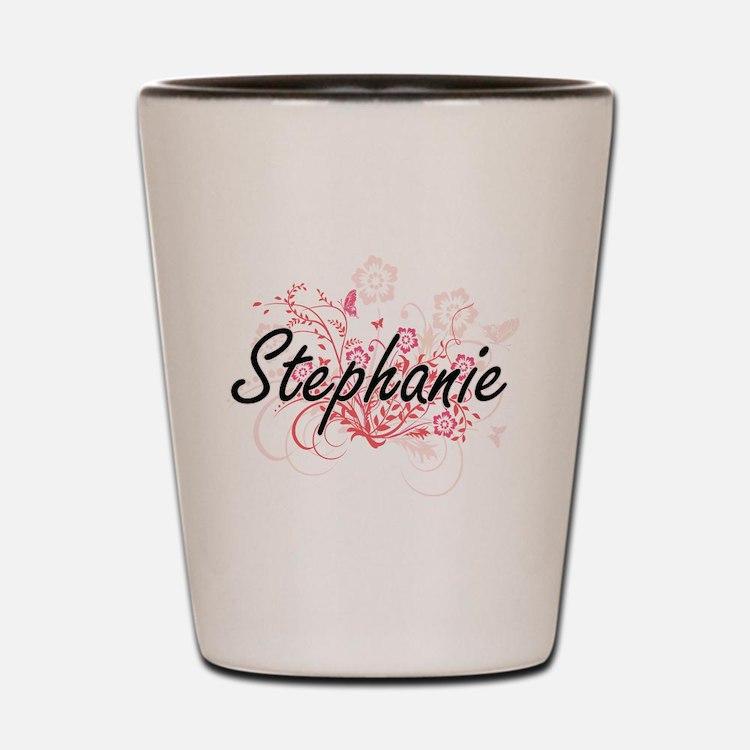 Stephanie Artistic Name Design with Flo Shot Glass