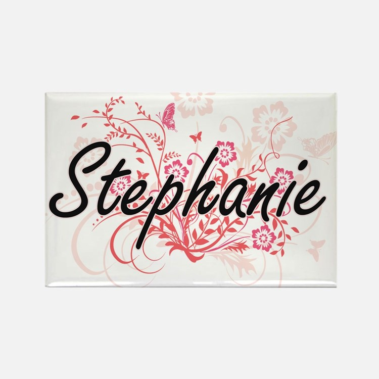 Stephanie Artistic Name Design with Flower Magnets
