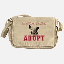 Dog Lives Matter Messenger Bag