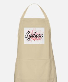 Sydnee Artistic Name Design with Flowers Apron